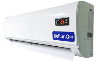 Внутренний блок холодильной сплит-системы Belluna серии Эконом и Лайт сбоку.